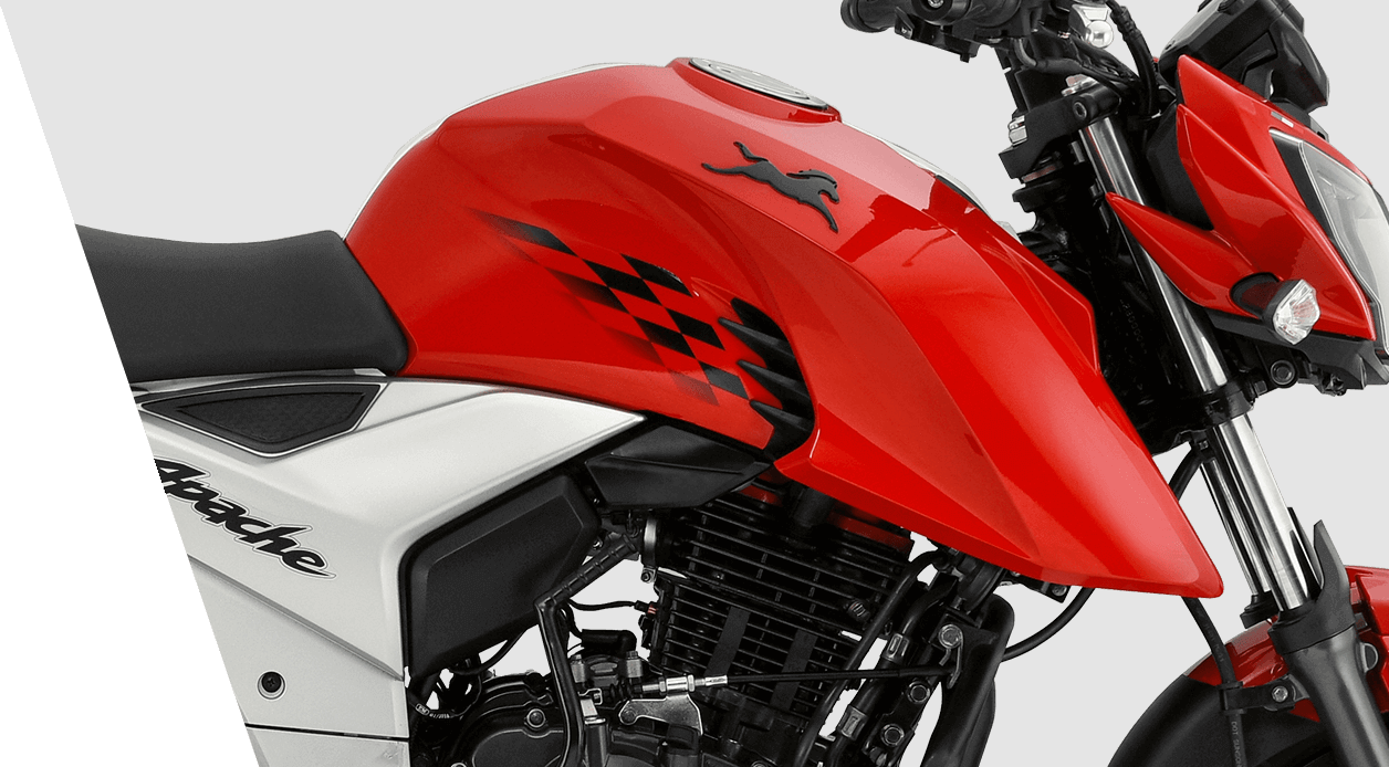 Tvs Apache Rtr 160 4v Performance Features Safety Colors Automatic Street Light Circuit Diagram Aggressive Tank Cowl