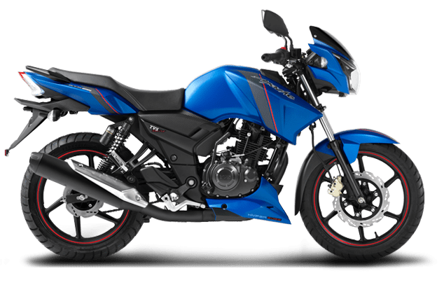 TVS Apache RTR Matte Blue Series | Performance,Features,Safety ...